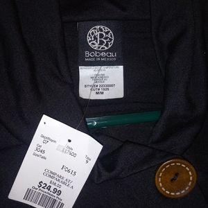 Bobeau medium black cardigan